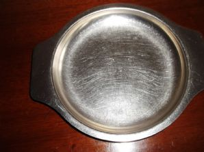 COLLECTABLE VINTAGE CHILD'S STAINLESS STEEL TAB PLATE THREE BEARS VINERS